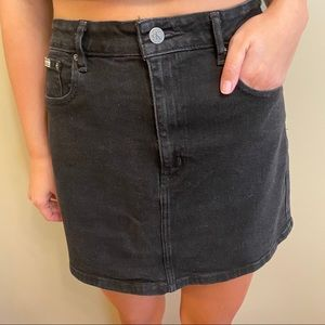 Calvin Klein Classic Black Denim Skirt